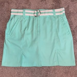 Izod Golf 6 skirt skort belt mint green pleated